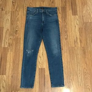 COH Rocket Crop High Rise Skinny 27 Distressed
